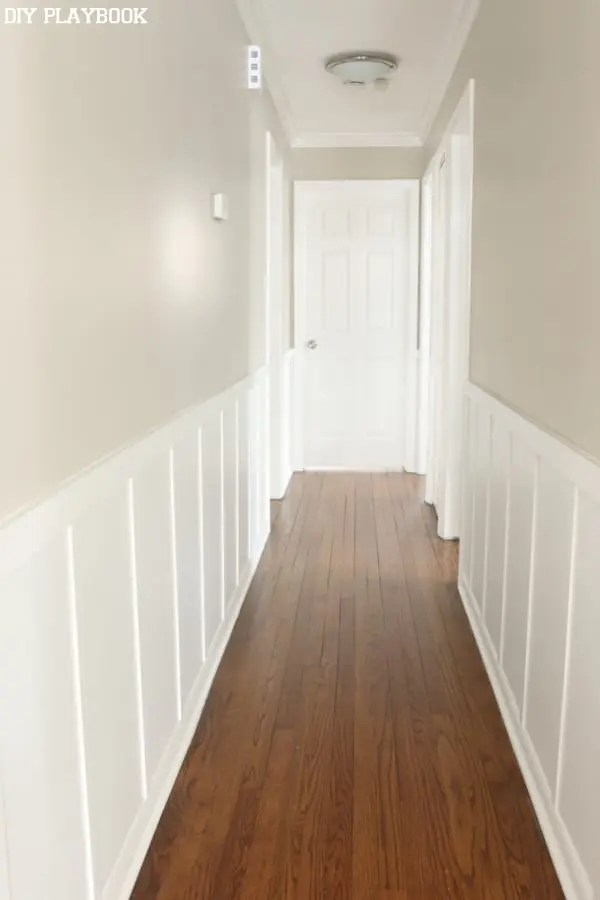 Decorar Pasillos Largos Hallway Board And Batten: Reveal - Diy Playbook