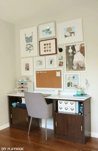 gallery wall office