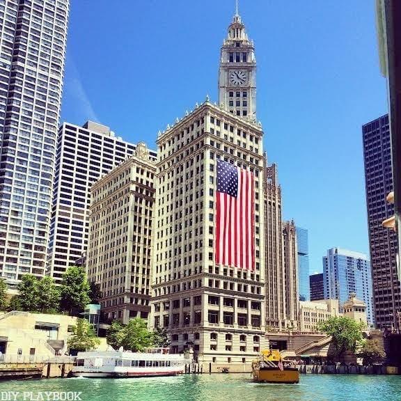 Chicago flag river summer