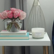 roses flower office makeover candle