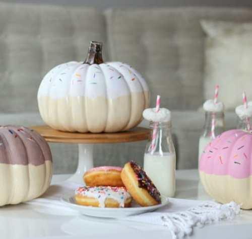 DIY Donut Pumpkin brunch