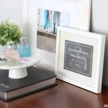 Frames on Dresser Bedroom