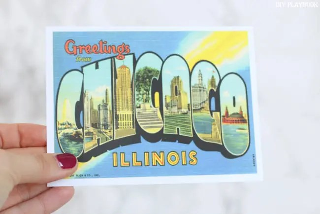 Greetings from Chicago Illinois Postcard