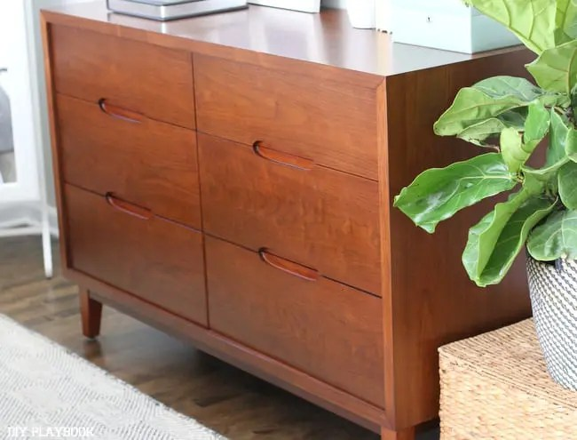 Midcentury Wooden Dresser Bedroom