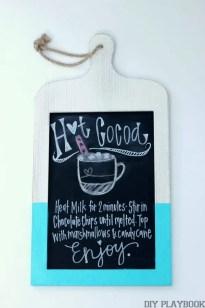 Hot Cocoa Recipe Chalkboard