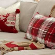 Christmas Plaid Pillows and blanket