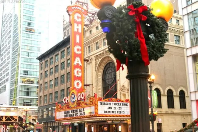 Chicago Theatre for Christmas
