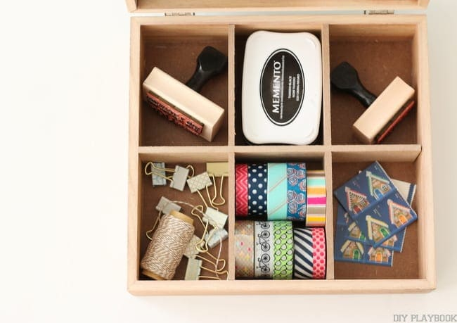 organize washi tape stamp mail michaels makers