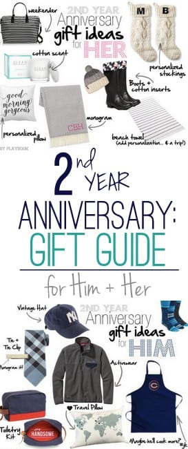 2nd Year Wedding Anniversary Gift IdeasDIY Playbook