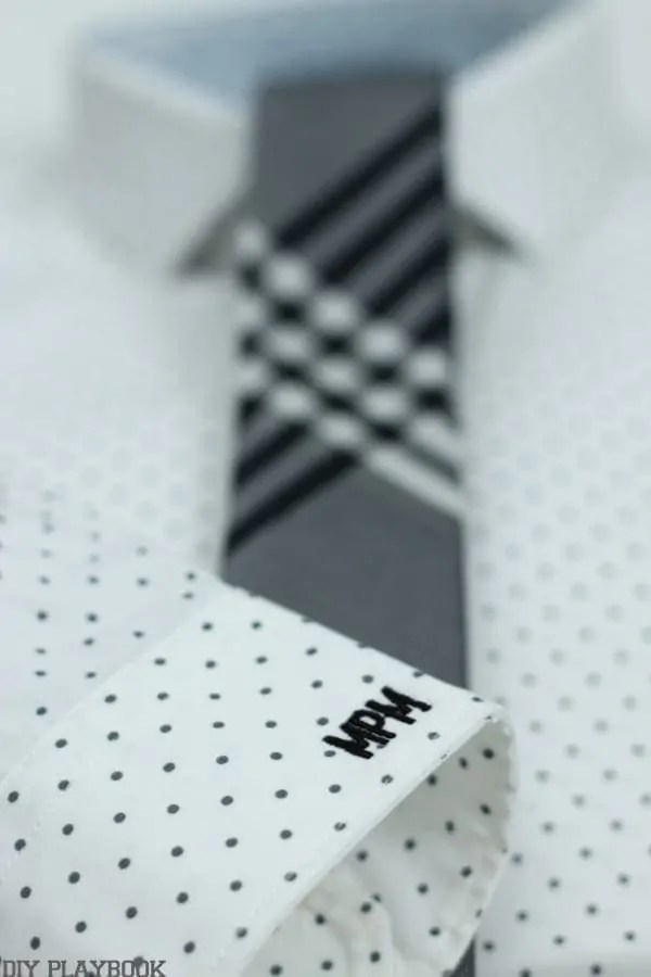 Anniversary Cotton Gift Shirt Tie Monogram