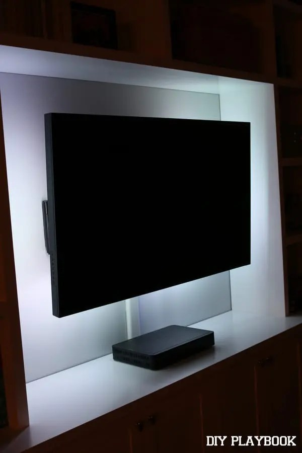 led lights on our flat screen tv diy playbook. Black Bedroom Furniture Sets. Home Design Ideas