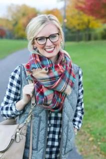 bridget-glasses-plaid-scarf-buffalo-check-shirt