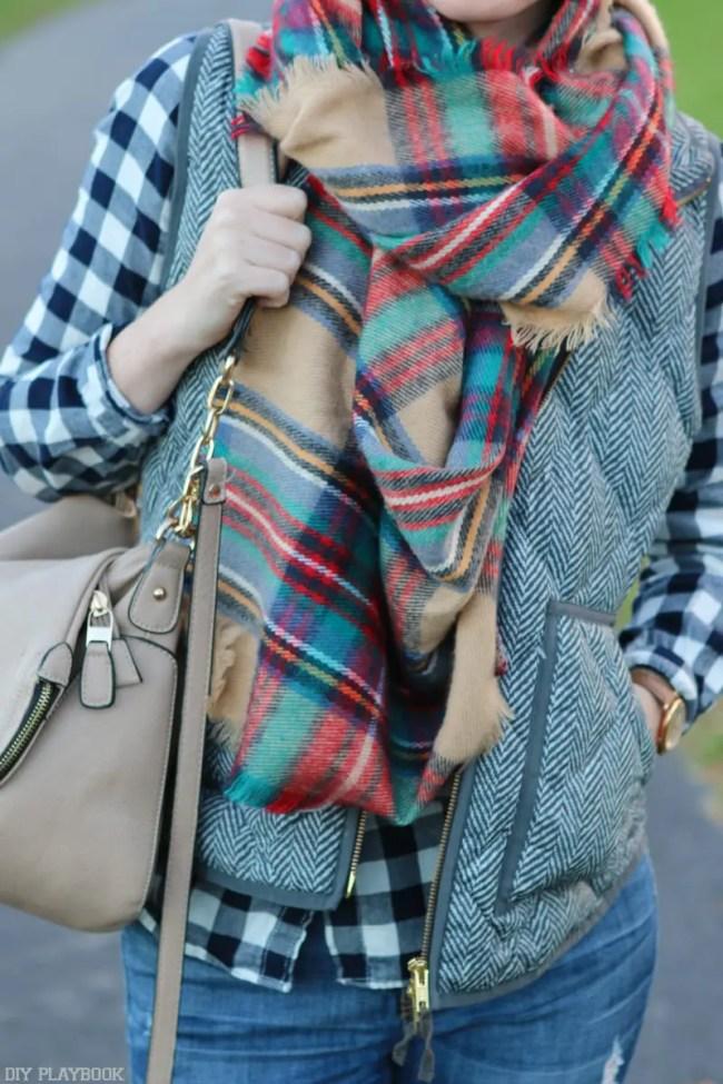 plaid-scarf-vest