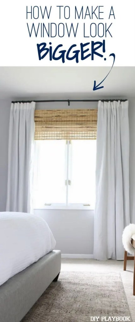 The right window treatments to make your window look bigger Window treatment ideas to make