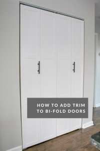 A DIY Door Tutorial to Add Trim to Plain Bifold Doors