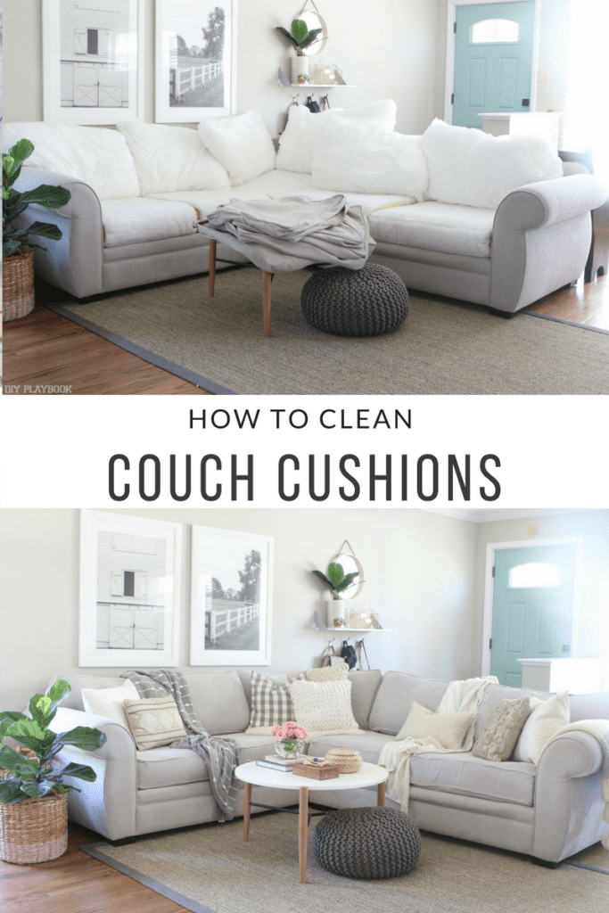 How To Clean Couch Cushions In Four Easy Steps The Diy - Sofa Cushions Cleaning