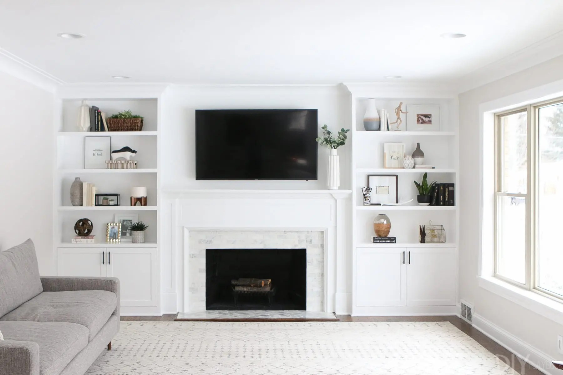 How To Decorate Fireplace The Dos And Don Ts Of Decorating Built In Shelves The Diy Playbook