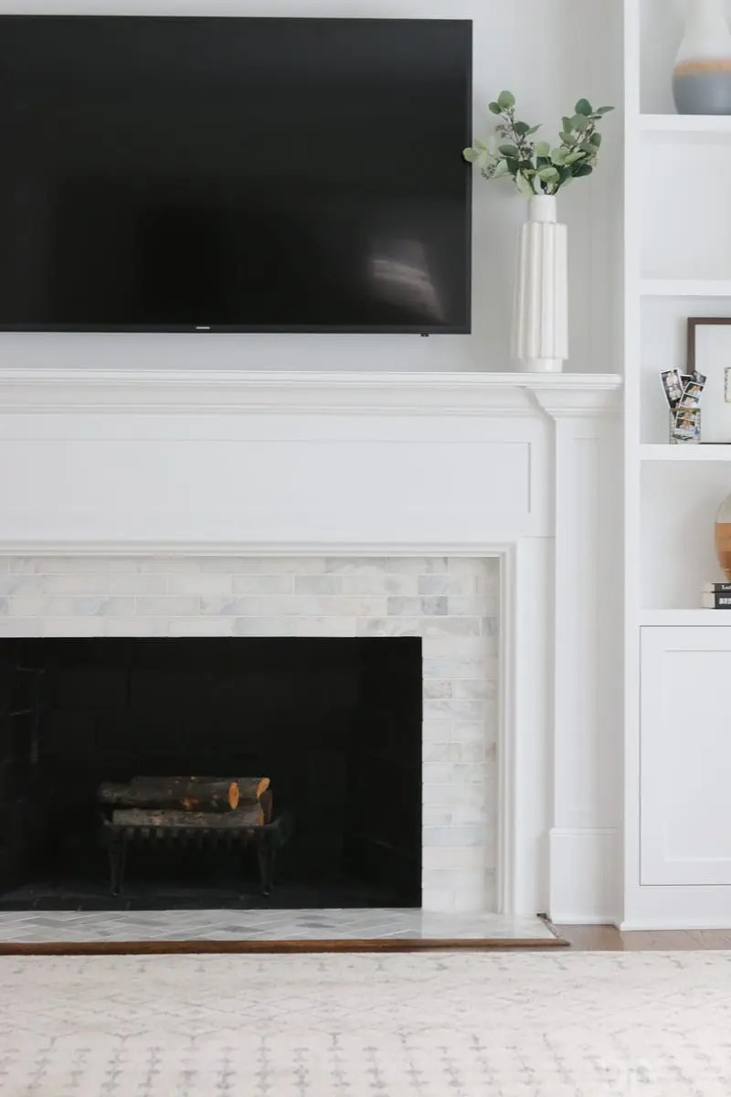 Heat Resistant Paint Fireplace A White Marble Tile Fireplace Update The Diy Playbook