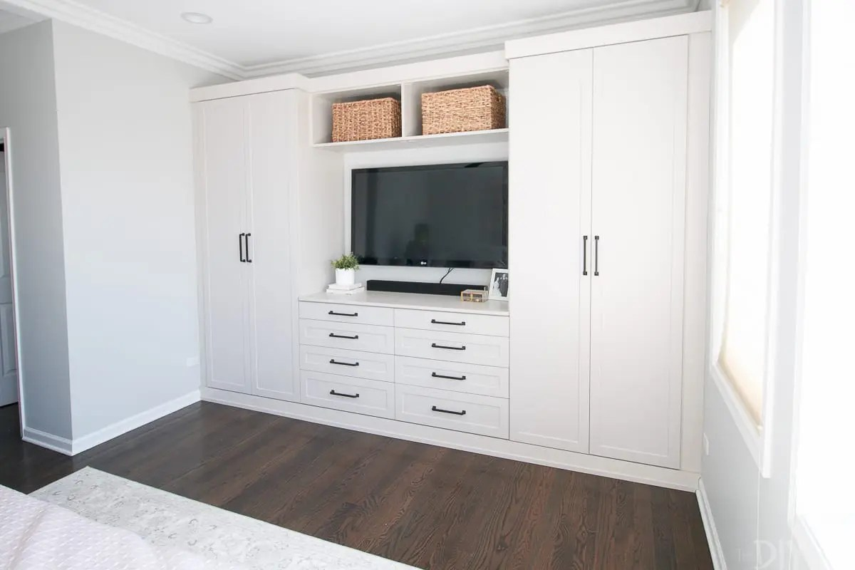 Diy Closet Built Ins Master Bedroom Built Ins With Storage The Diy Playbook