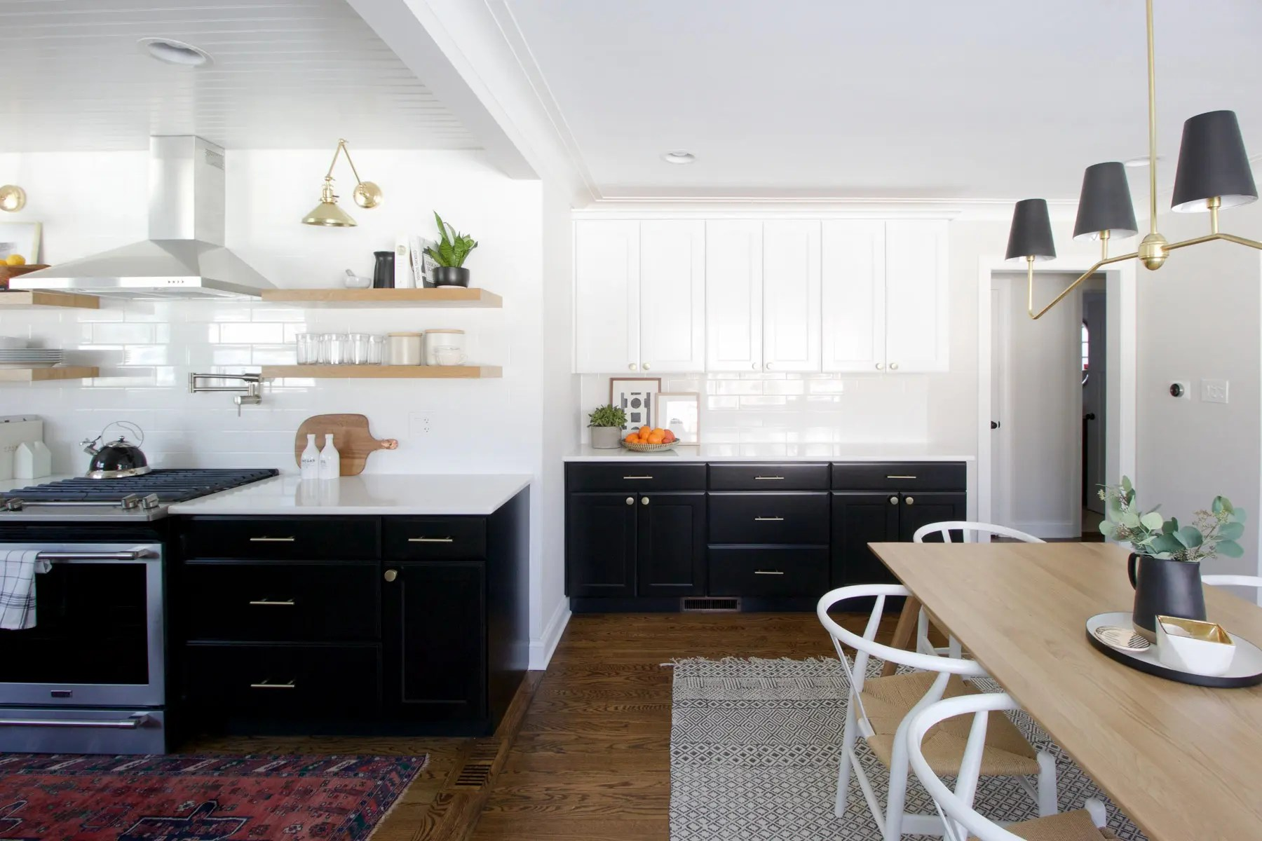 Black And White Kitchen Reveal The Diy Playbook