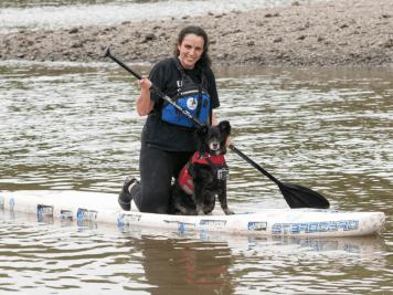 FB- Dog and Human Paddle Boarding