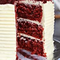 red velvet cake with swiss meringue cream cheese buttercream