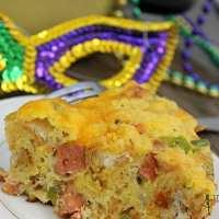 Mardi Gras Breakfast Casserole