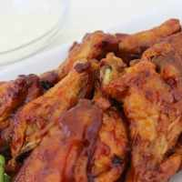 Sticky Strawberry Barbecue Hot Wings
