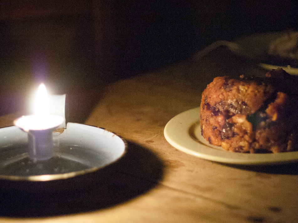 Eve's pudding by candlelight