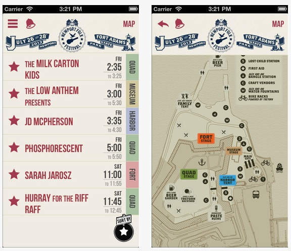 Newport Folk Schedule Apps Available \u2013 Donkey Jaw