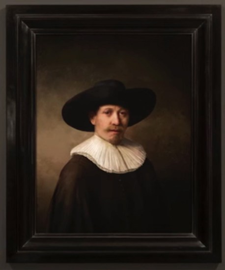 A computer-generated, 3-D printed, Rembrandt