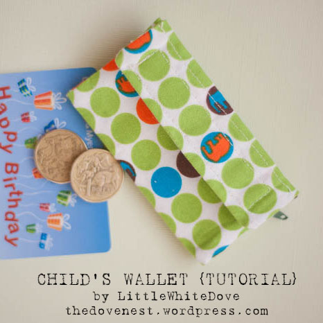 child's wallet tutorial