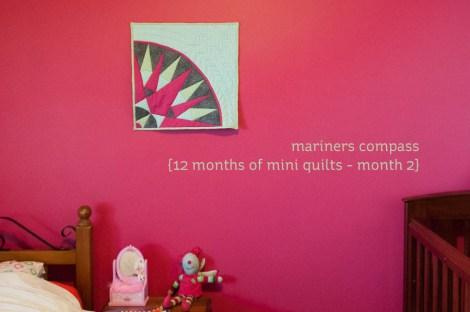 mariners compass mini quilt