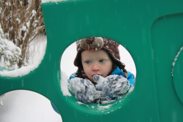 Wilson in snow
