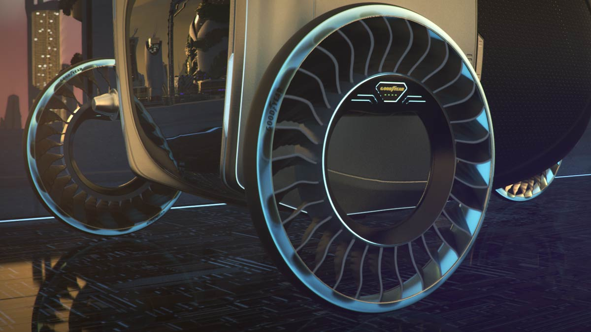 Goodyear Tyres Tyres With Wings Cars Might Fly Thanks To Goodyear The Driven