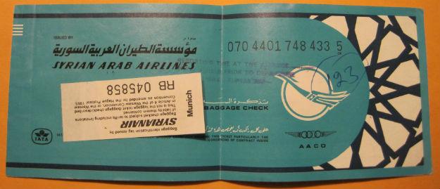 Fake Onward Ticket - TheDromomaniac