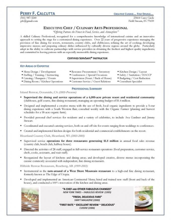 Our Chef Resume Samples Alid Head Chef Contract Template \u2013 Theearthe