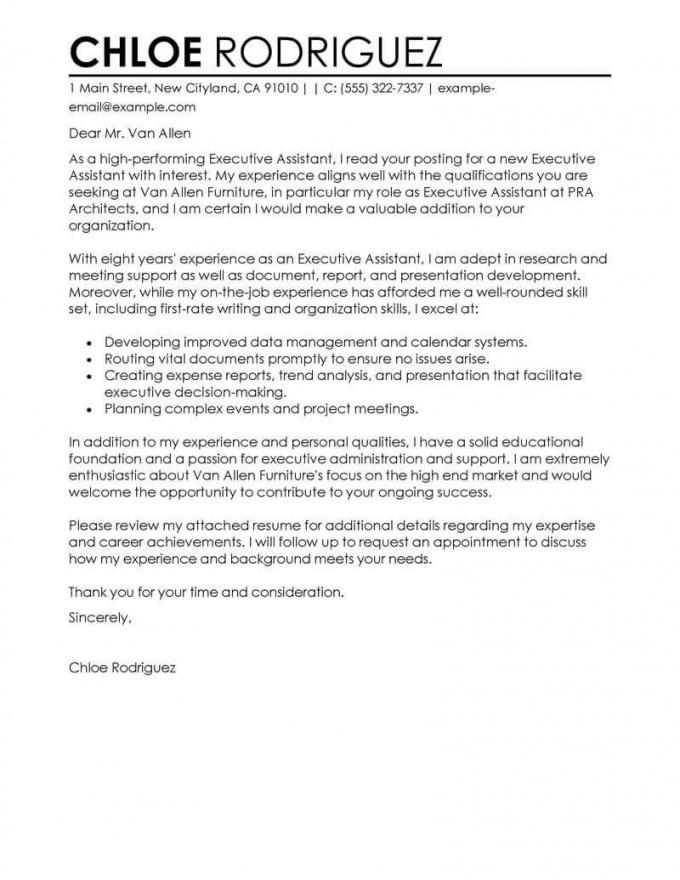 Cover Letter Template Executive Assistant 2Cover Letter Template