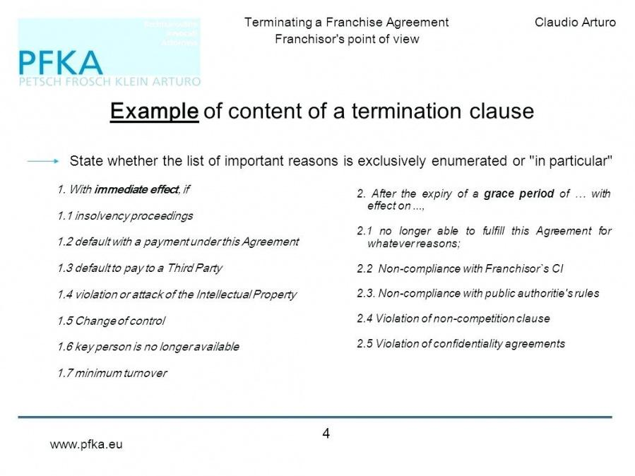 Letter Format Franchise Contract Template Example Of Content