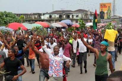 Protests by IPOB members in Port Harcourt