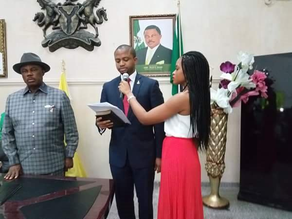 Governor-Obiano-swears-in-youngest-commissioner-Mark-Okoye