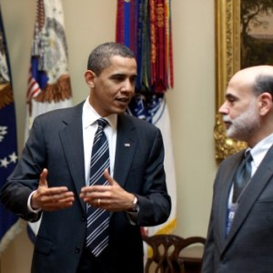 Barack Obama And Ben Bernanke