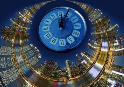 Time Spinning Skyline - Public Domain
