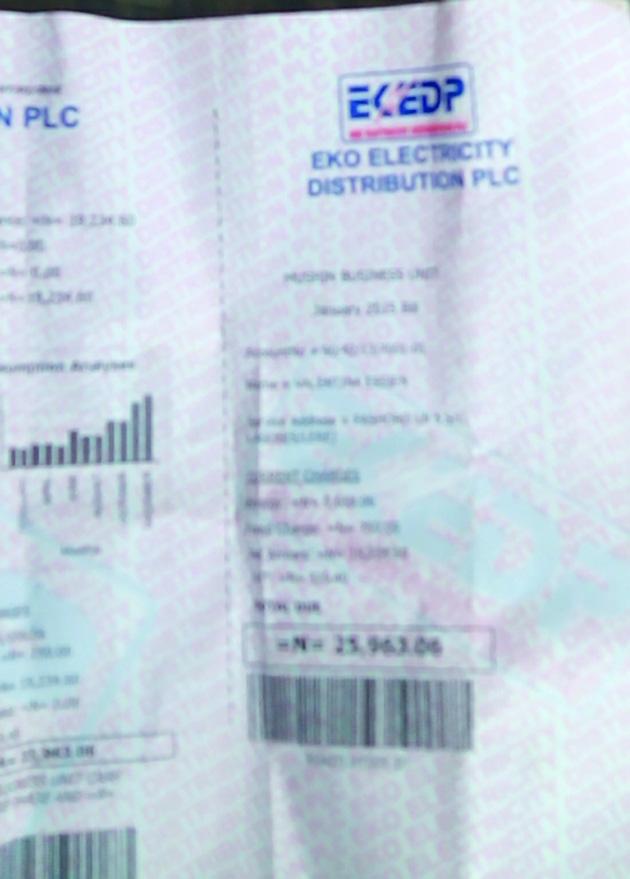 Estimated bill, Eko Disco