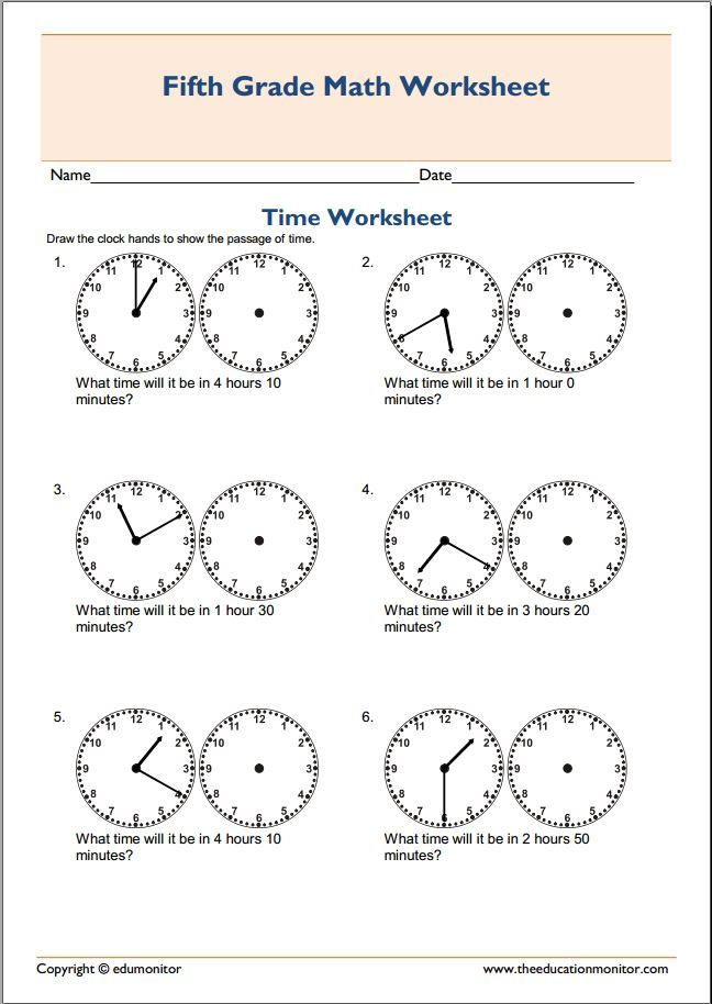 Free Printable Telling Time Worksheets \u2013 EduMonitor - time worksheets