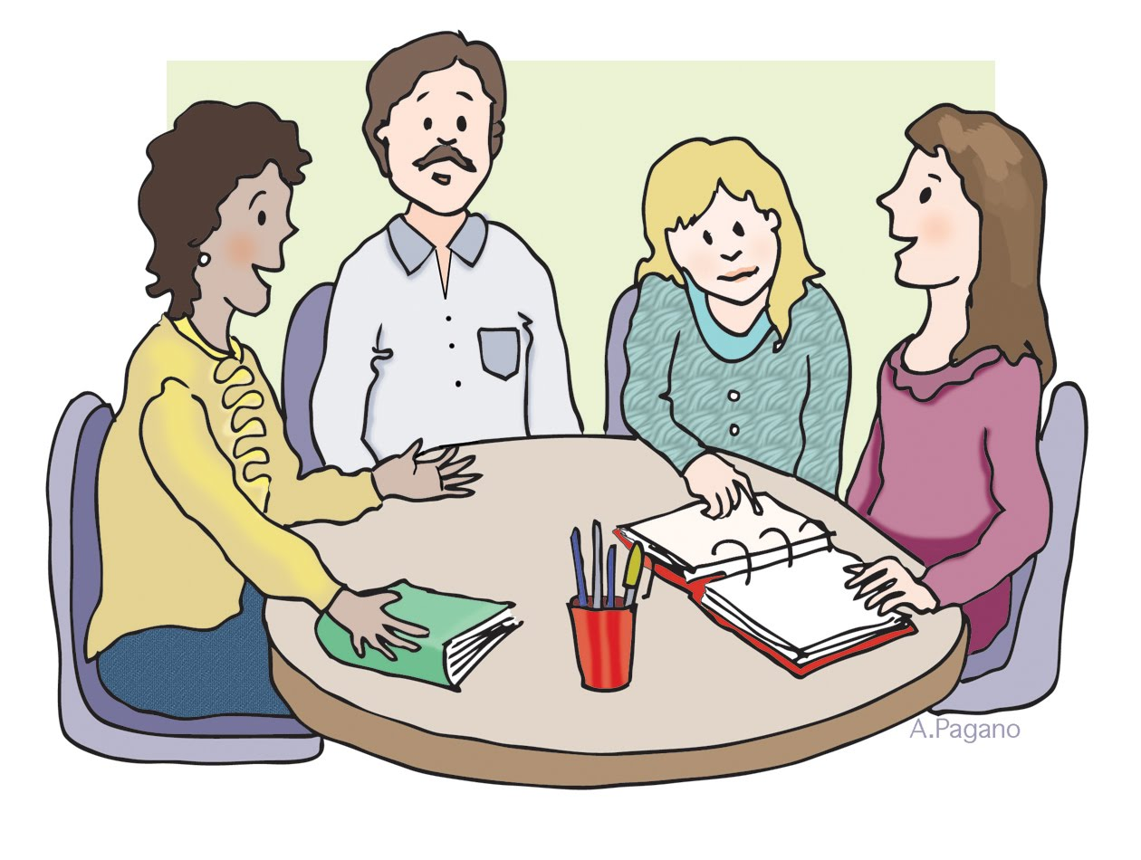 Teacher Meeting Clip Art