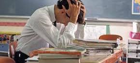 exhausted teacher