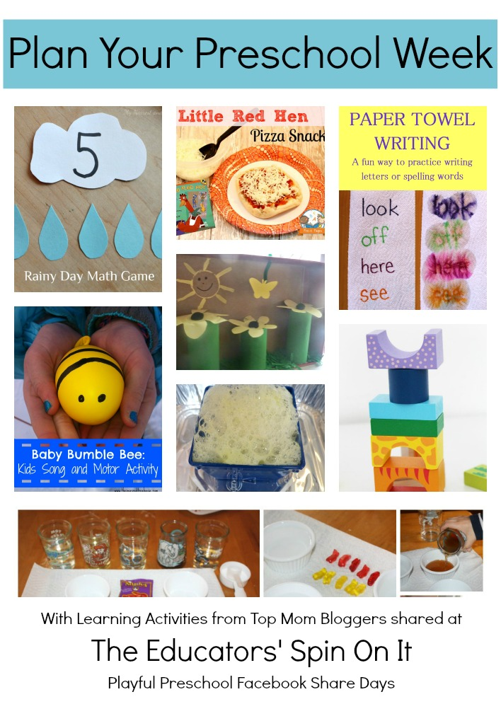 Playful Preschool Lesson Plans - The Educators\u0027 Spin On It