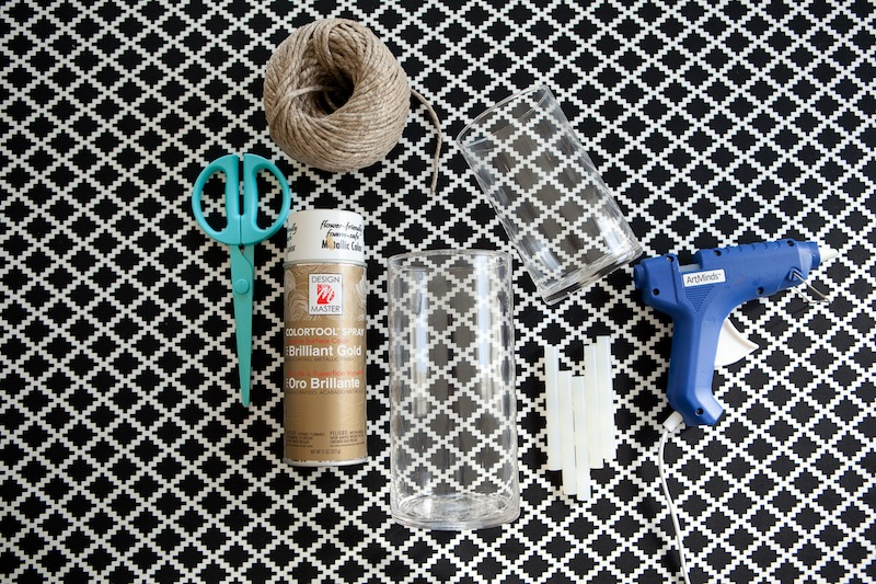 Diy Outdoor Twine Candle Holder The Effortless Chic