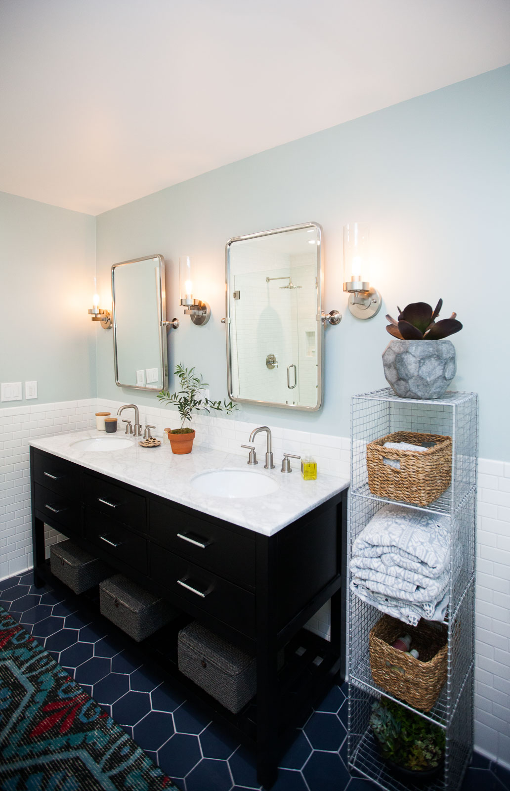 Rejuvenation Lighting Fixtures Master Bathroom Renovation // Before + After - The